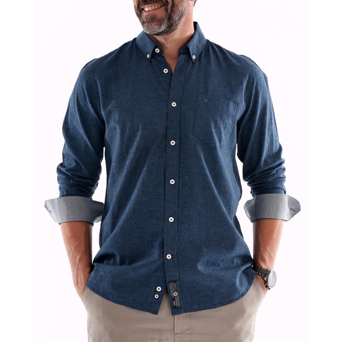 chemise homme en coton lin rue des hommes. Black Bedroom Furniture Sets. Home Design Ideas