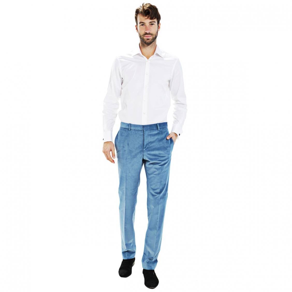 Pantalon homme fitt en velours c tel stretch rue des - Pantalon velours cotele homme ...