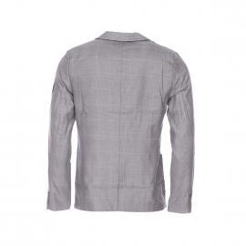 Veste de blazer Deepend en coton gris à rayures bleu ciel