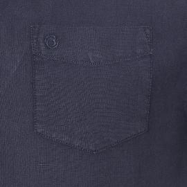 Chemise manches courtes Bermudes en lin bleu marine