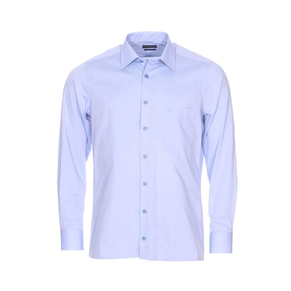 Chemise cintrée  en coton bleu clair