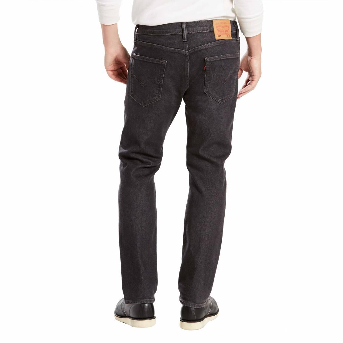 62c212d557c07 ... Jean 502 regular taper Levis en coton stretch noir chiné