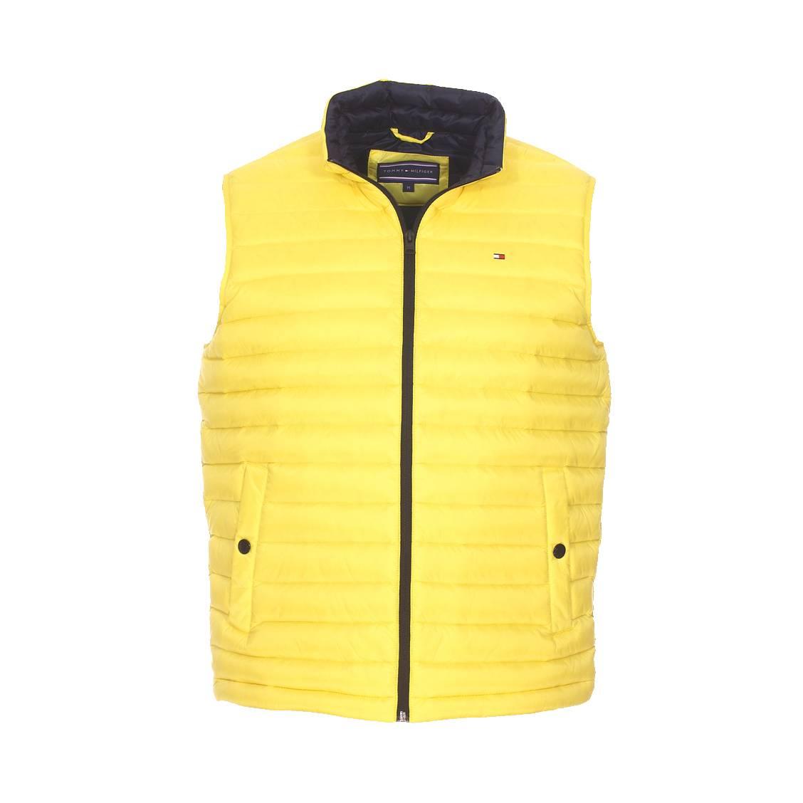 hilfiger denim preco h17 doudoune dm0dm02228 701 lw packable down vest 701  blazing yellow doudoune sans doudoune sans manches legere jaune a capuche  mezaguz 2c201af08955