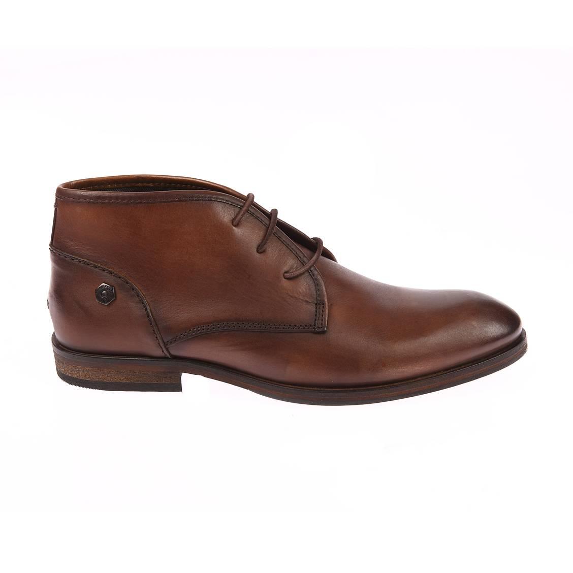 Chaussures Hilfiger Denim marron en cuir lisse. Chaussures de ville Hilfiger Denim  - Cuir lisse (100%)- Doublure et semelle de propreté : cuir