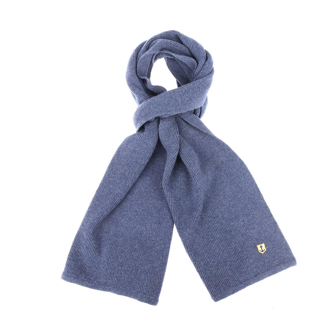 Echarpe  en laine bleu grisé
