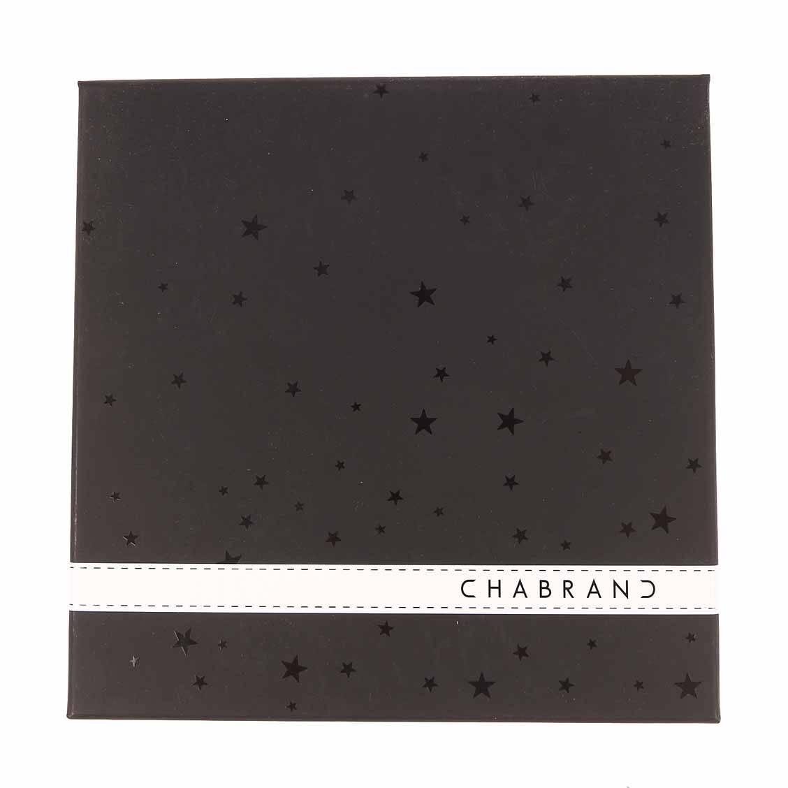 Coffret cadeau Chabrand ceinture ajustable en cuir noir réversible avec 2 boucles classique et pleine mate