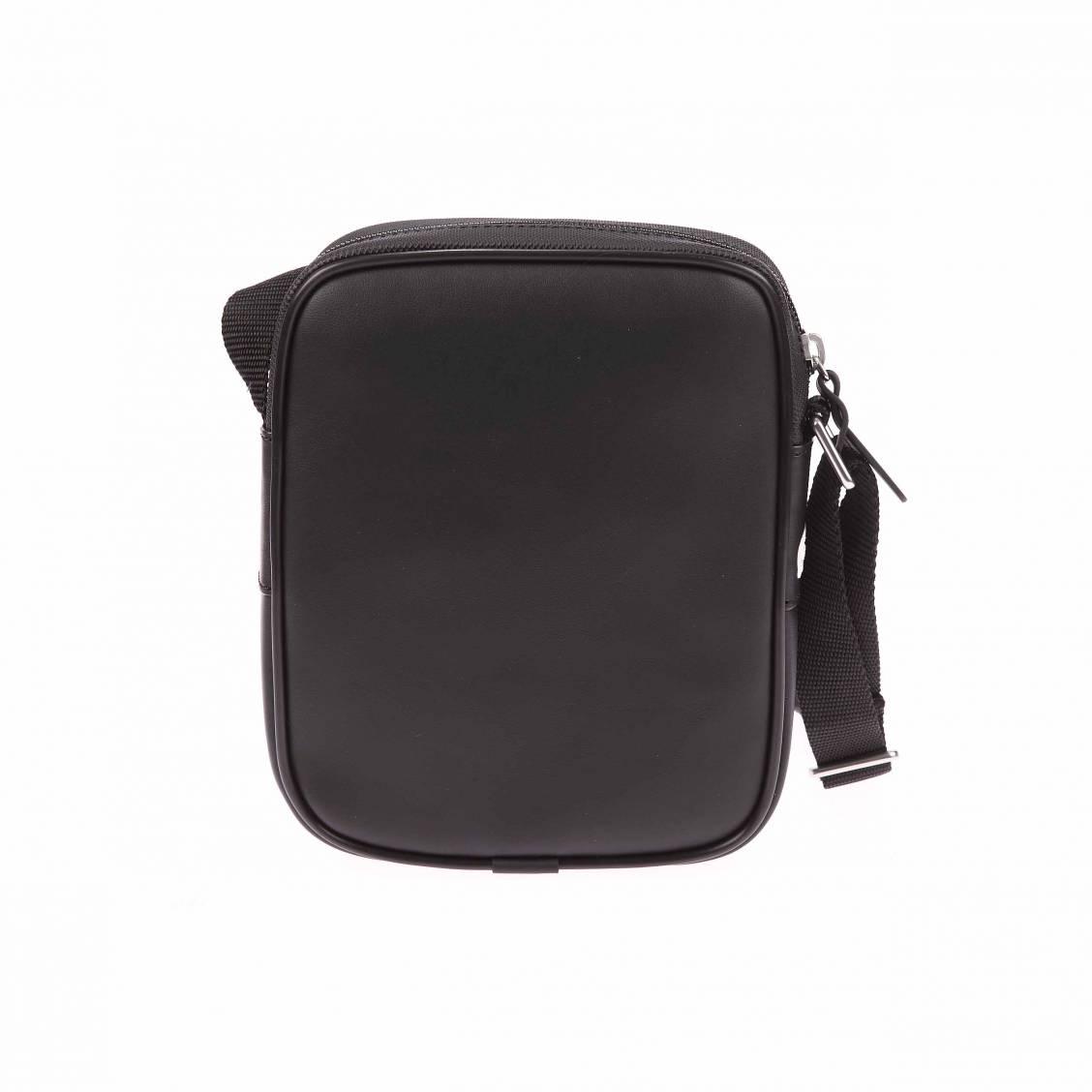 Sacoche Lacoste en PVC noir floqué en blanc pFD9Gvv8B