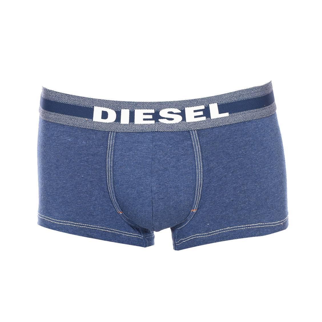Boxer  en coton stretch bleu jean
