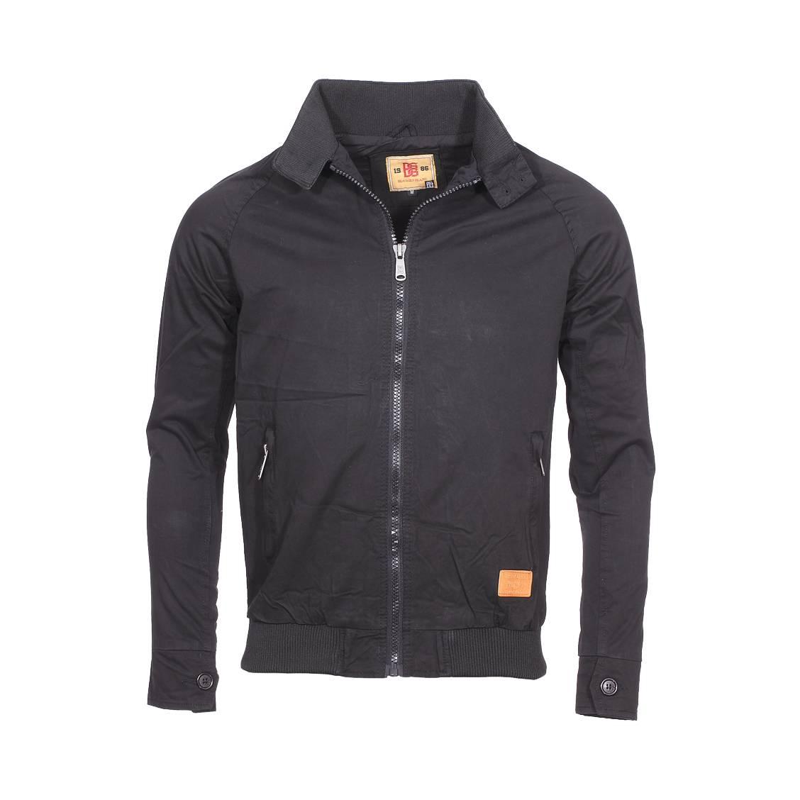 Blouson zippé  en coton noir