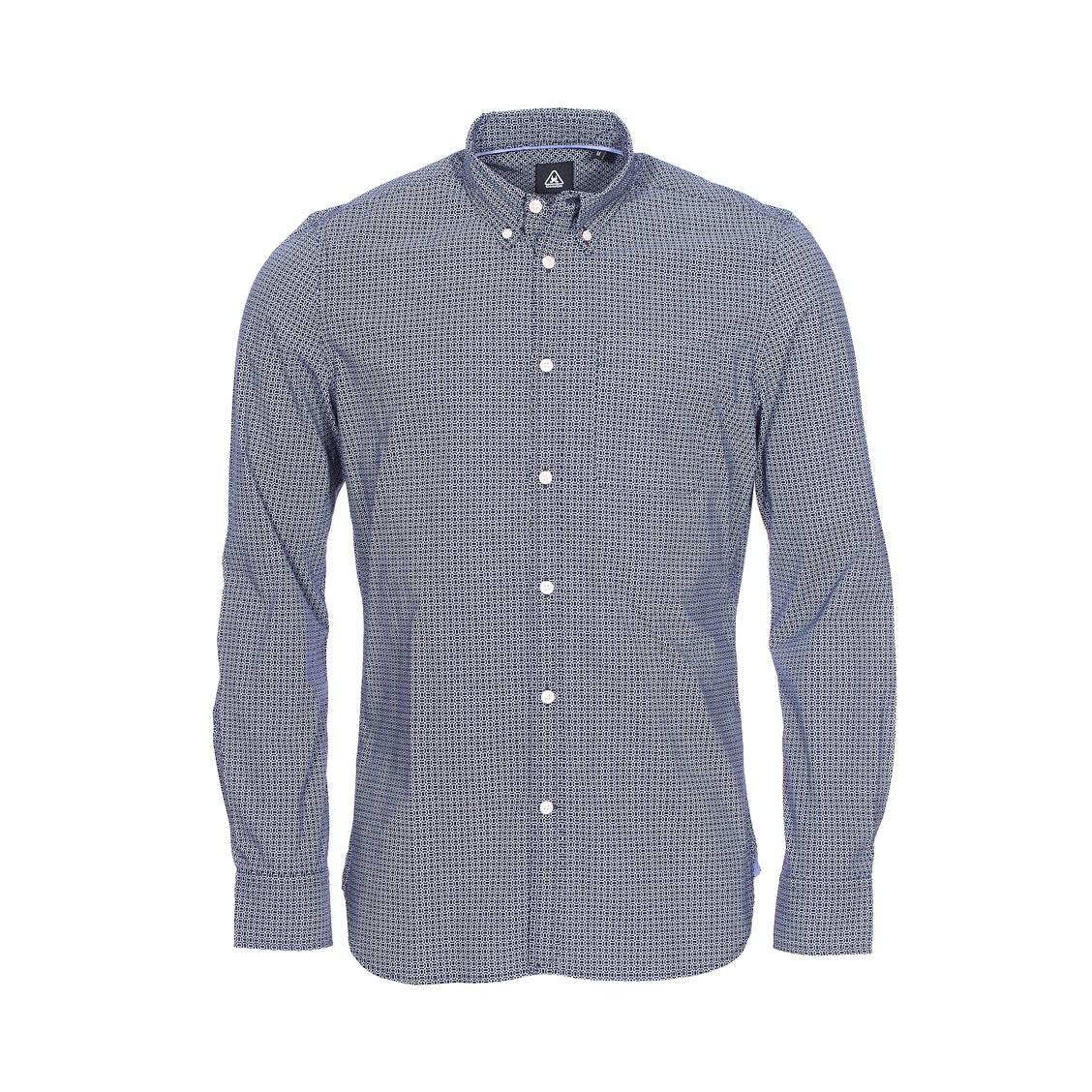 Chemise droite Gaastra en coton bleu marine à motifs blancs