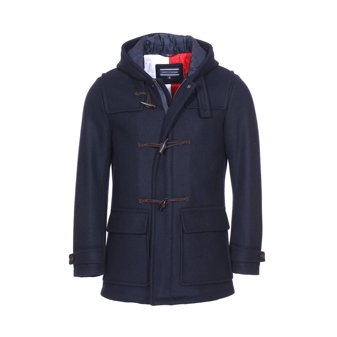 Duffle-coat à capuche tommy hilfiger en laine...