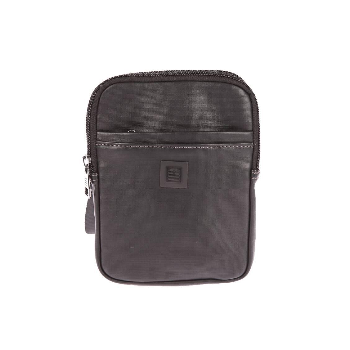 Sacoche zippée Serge Blanco noire à double compartiment 4RPDS1Ork