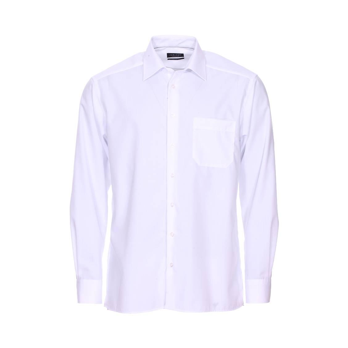Chemise droite Noblesse Jupiter en coton blanc