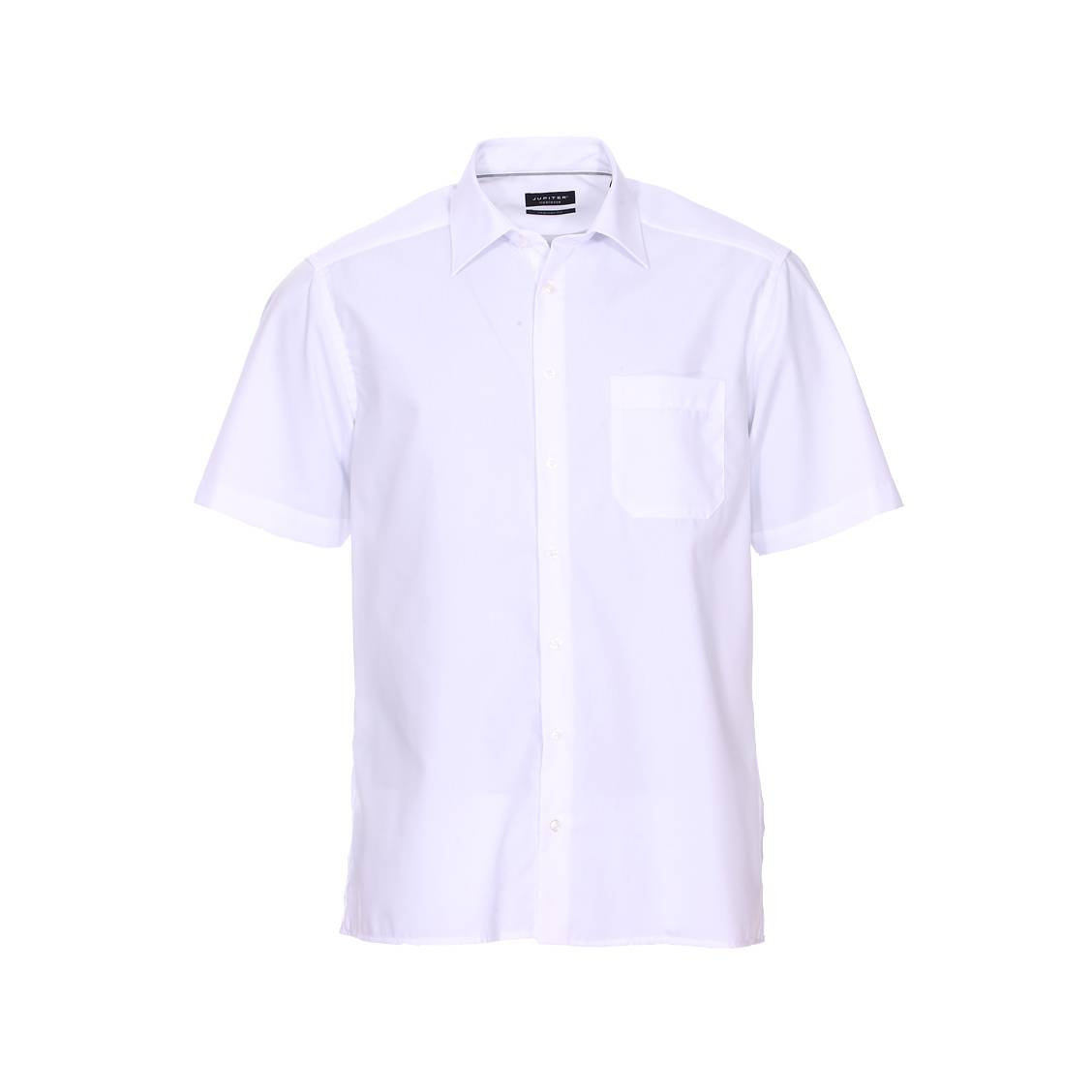 Chemise manches courtes droite noblesse  en coton blanc