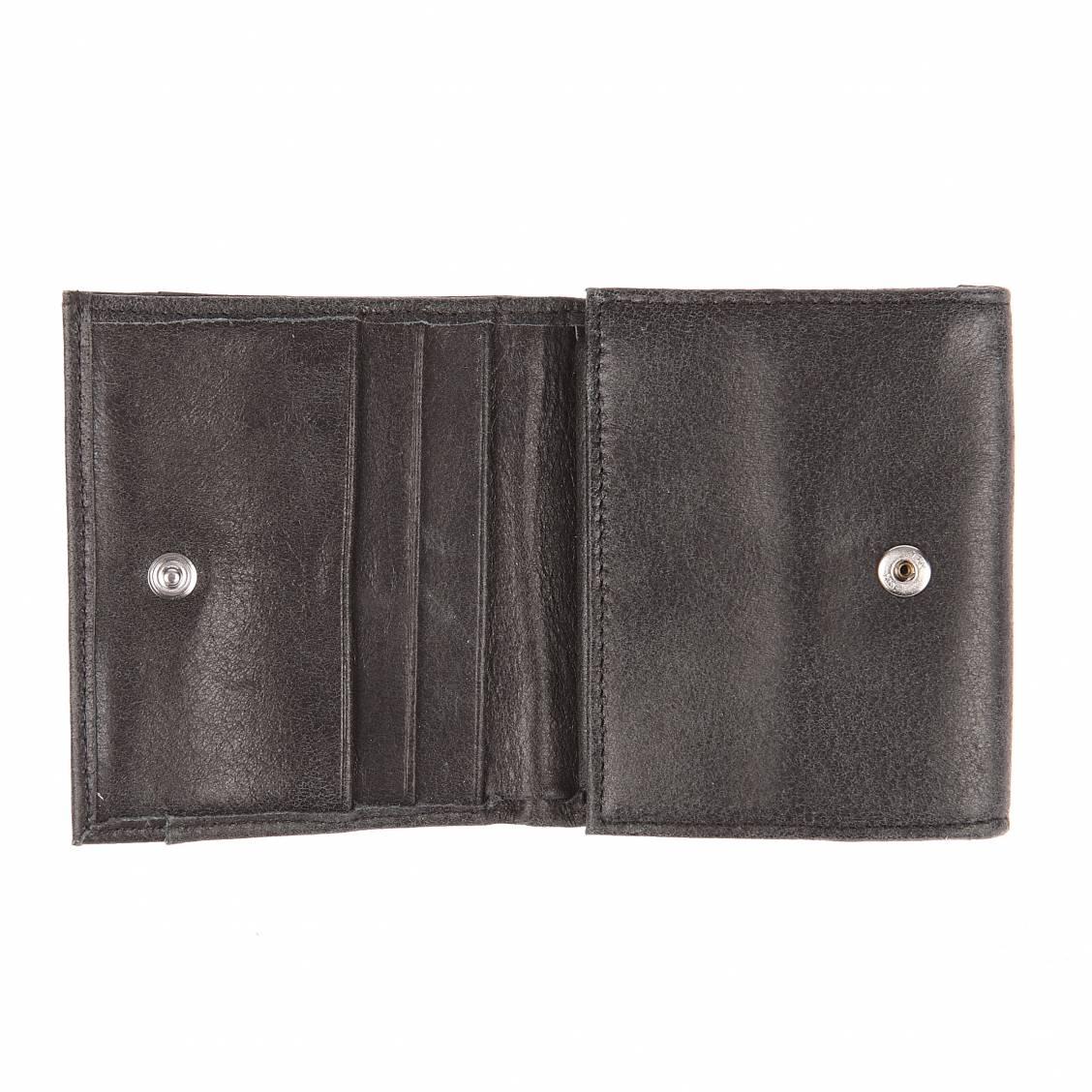 Porte-monnaie carré à 2 volets Arthur&Aston en daim marron PVa7U