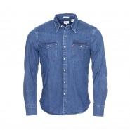 Chemise ajustée Levi's Barstow Western Brooklyn en coton mélangé bleu jean foncé