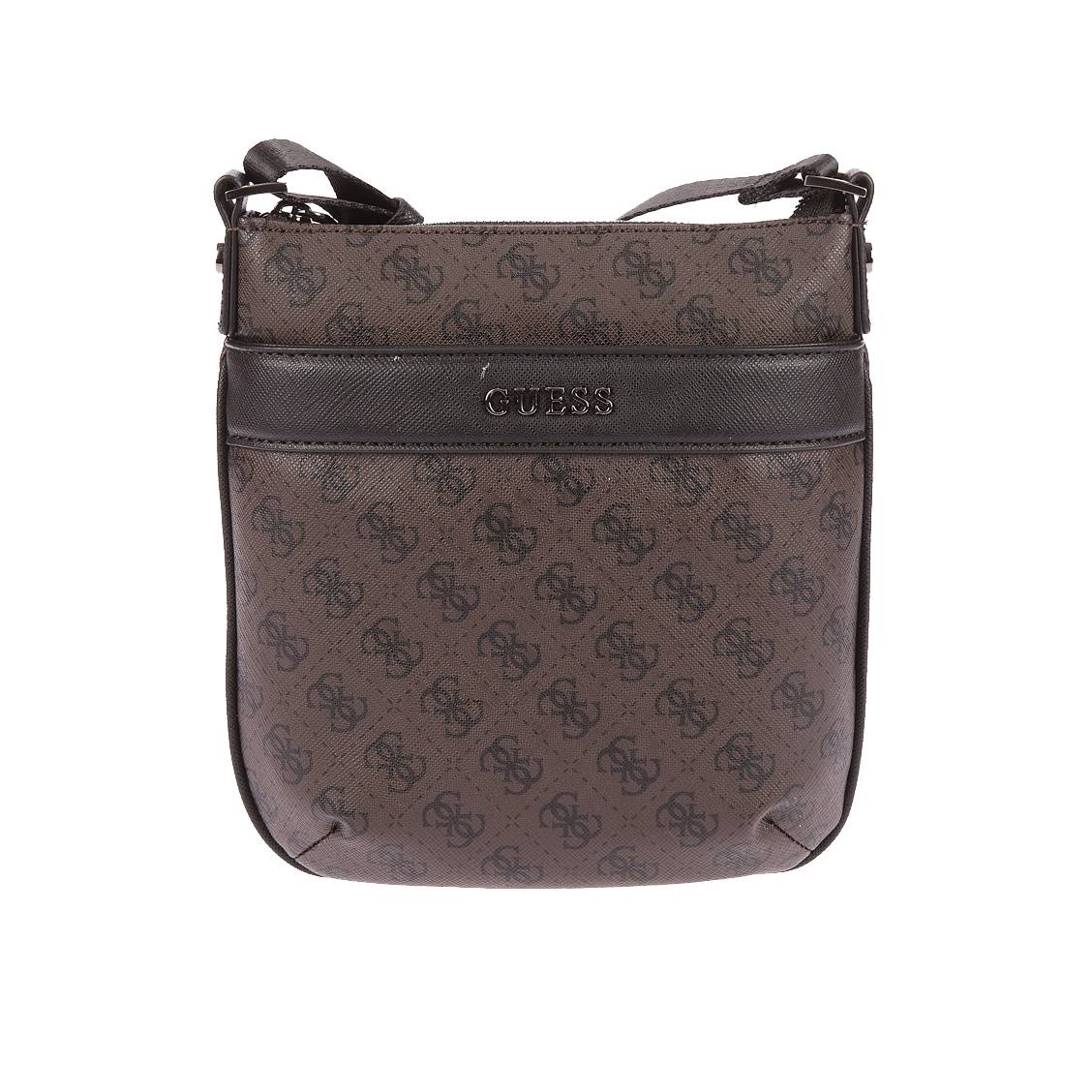 Sacoche Guess City Logo marron monogrammée noir nigQNcH6