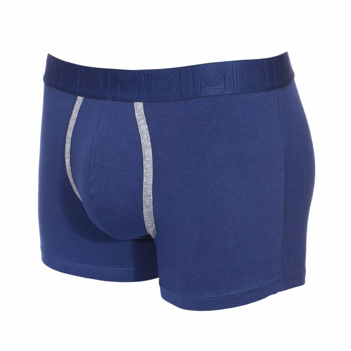 lot de 2 boxers dim mix fancy en coton stretch gris chin et bleu marine rue des hommes. Black Bedroom Furniture Sets. Home Design Ideas