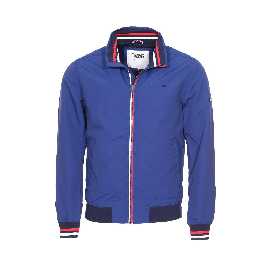 Blouson zippé  basic casual bleu roi