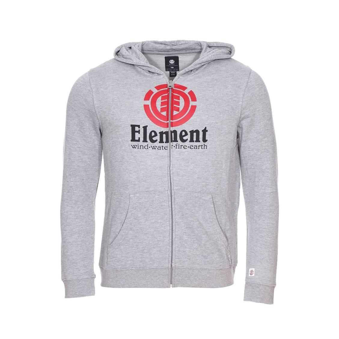 8a8402398baeb Sweat zippé à capuche Element Junior Vertical gris chiné | Rue Des ...