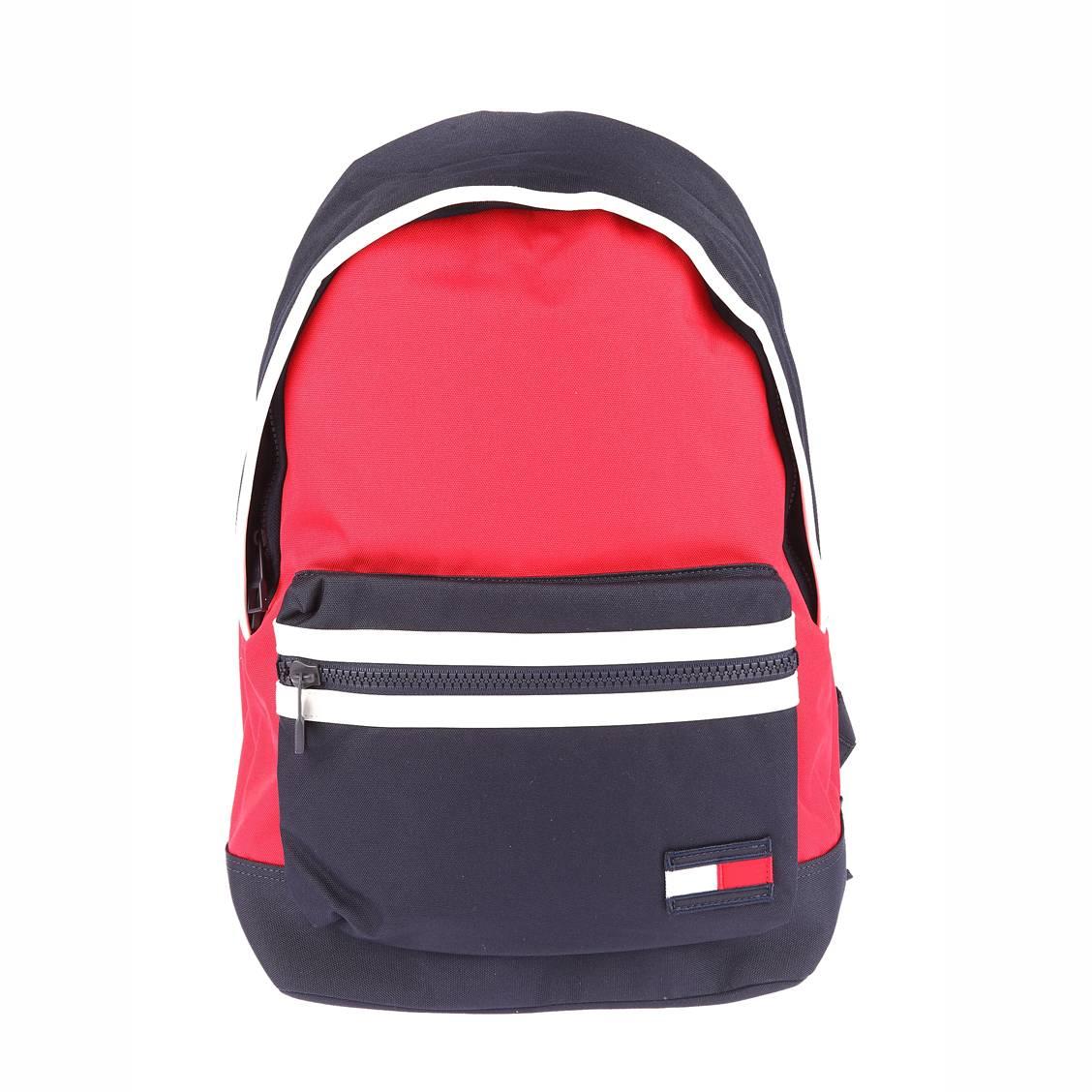Sac à dos Tommy Jeans Logo bleu marine avec poche avant rouge et blanche 37hpmK8w