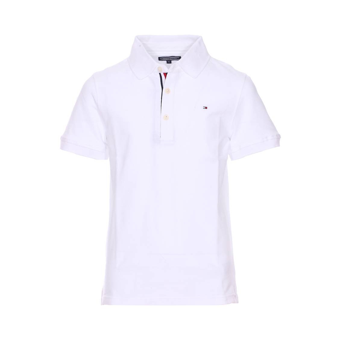 15f87e01 Polo Tommy Hilfiger Junior Ame en piqué de coton blanc | Rue Des Hommes