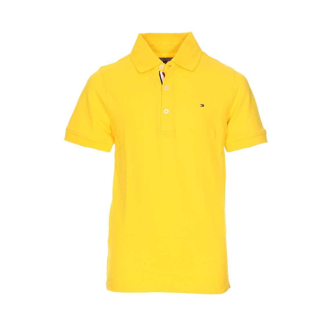 573303b8 Polo Tommy Hilfiger Junior Ame en piqué de coton jaune | Rue Des Hommes