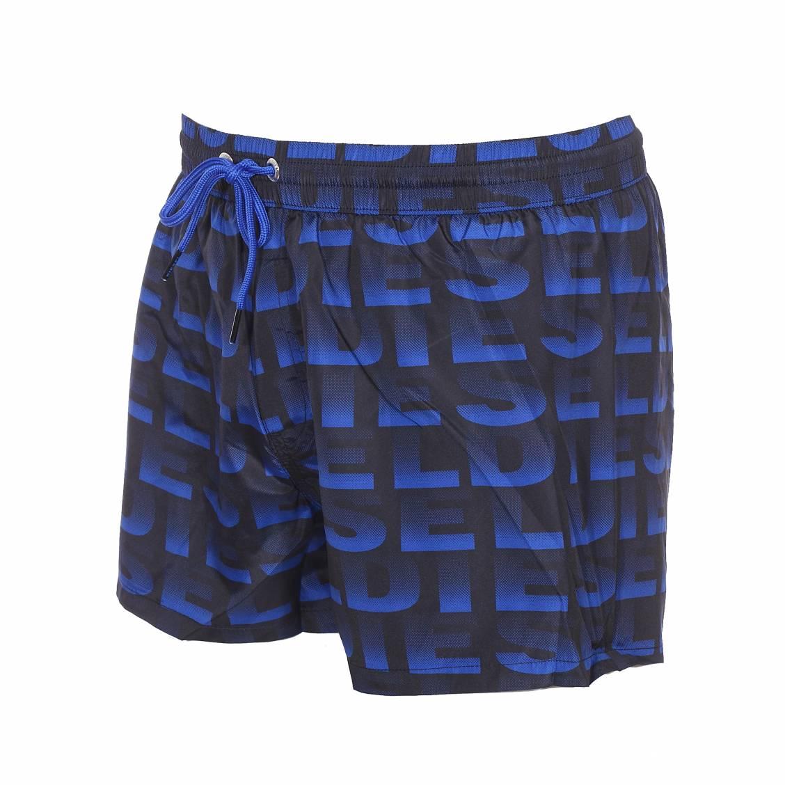 Short de bain diesel bmbx sandy bleu marine monogramm for Bain de soleil marina bleu