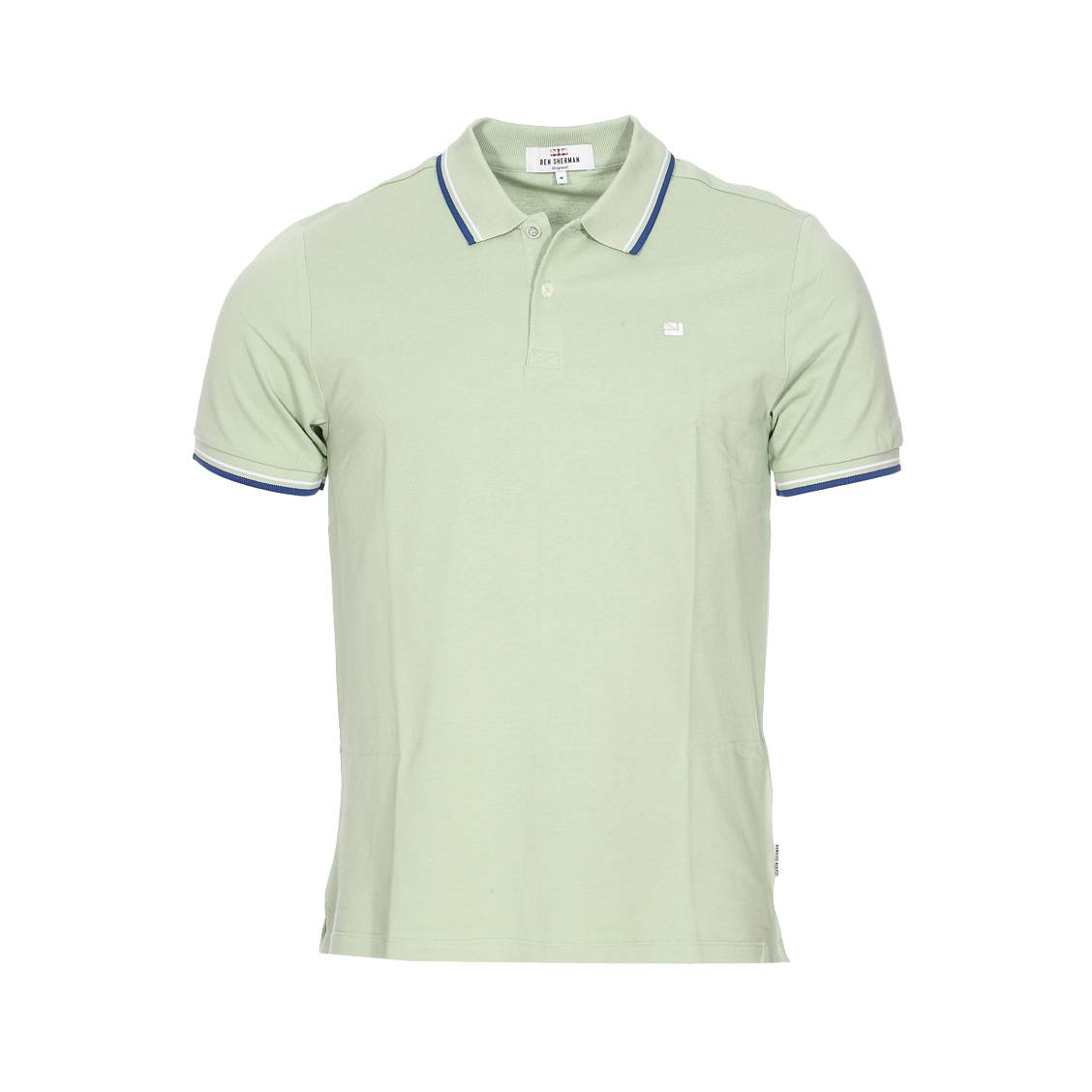 Polo  the romford en piqué de coton vert pâle
