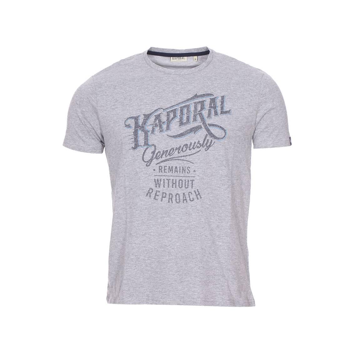 Tee-shirt col rond  tanja gris chiné