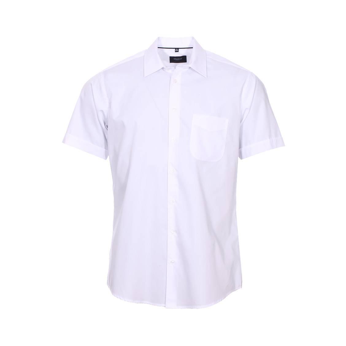 Chemise manches courtes jean chatel london nobless en coton blanc
