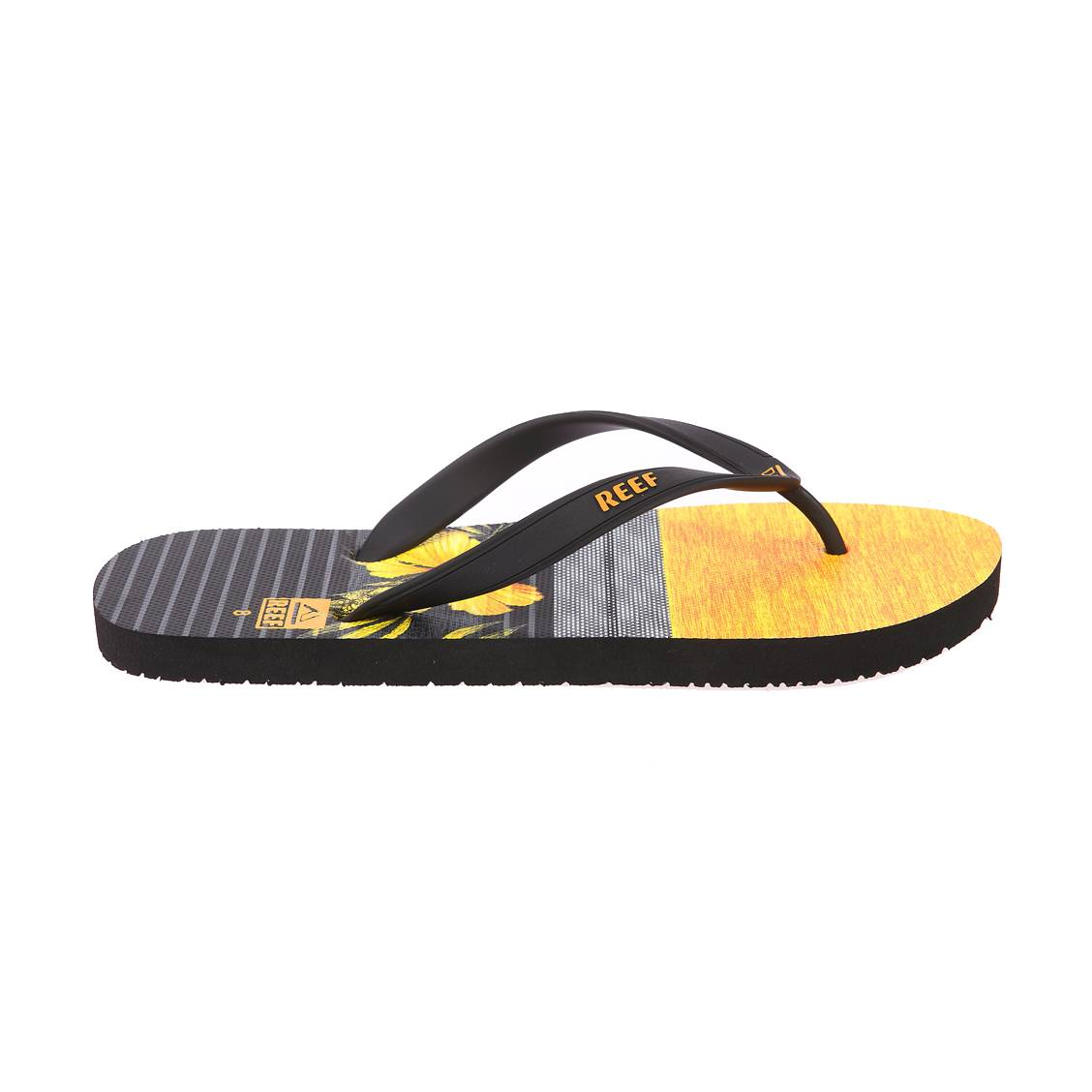 Reef Switchfoot Prin Black//Yellow Tongs Homme
