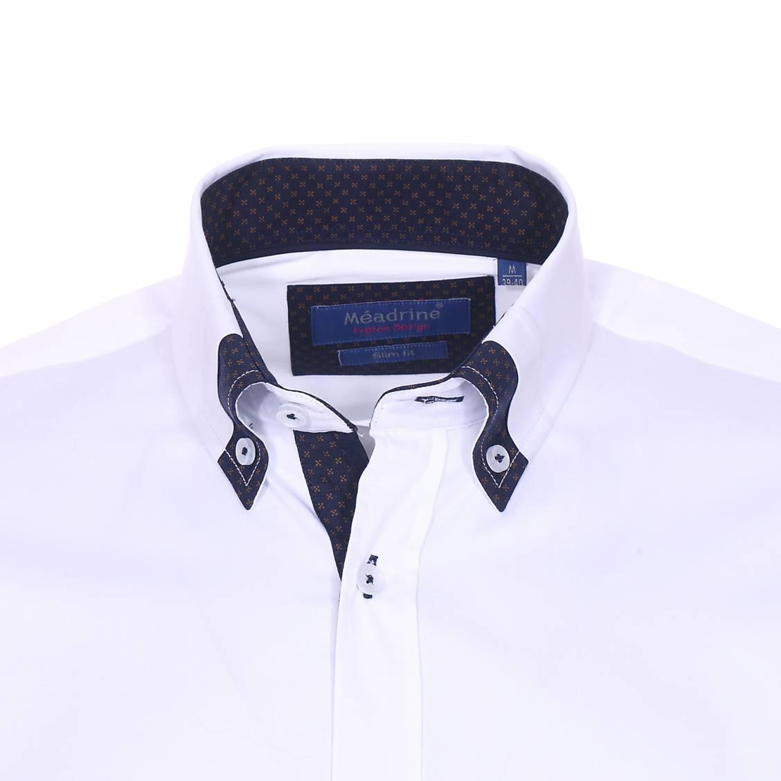 competitive price 0f63c f42d5 73823-meadrine-e18-confie-chemise-1919-blc-550-blanc -chemise-cintree-meadrine-en-coton-blanc -a-opposition-bleu-marine-a-motifs-marron-fonce-2 1128x1128.jpg