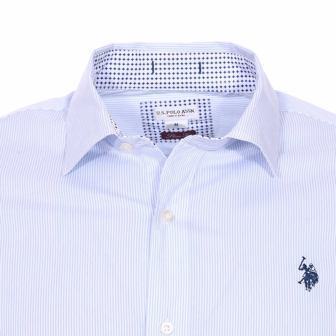 Chemise Cintree U S Polo Assn Octavi En Coton Stretch Blanc A