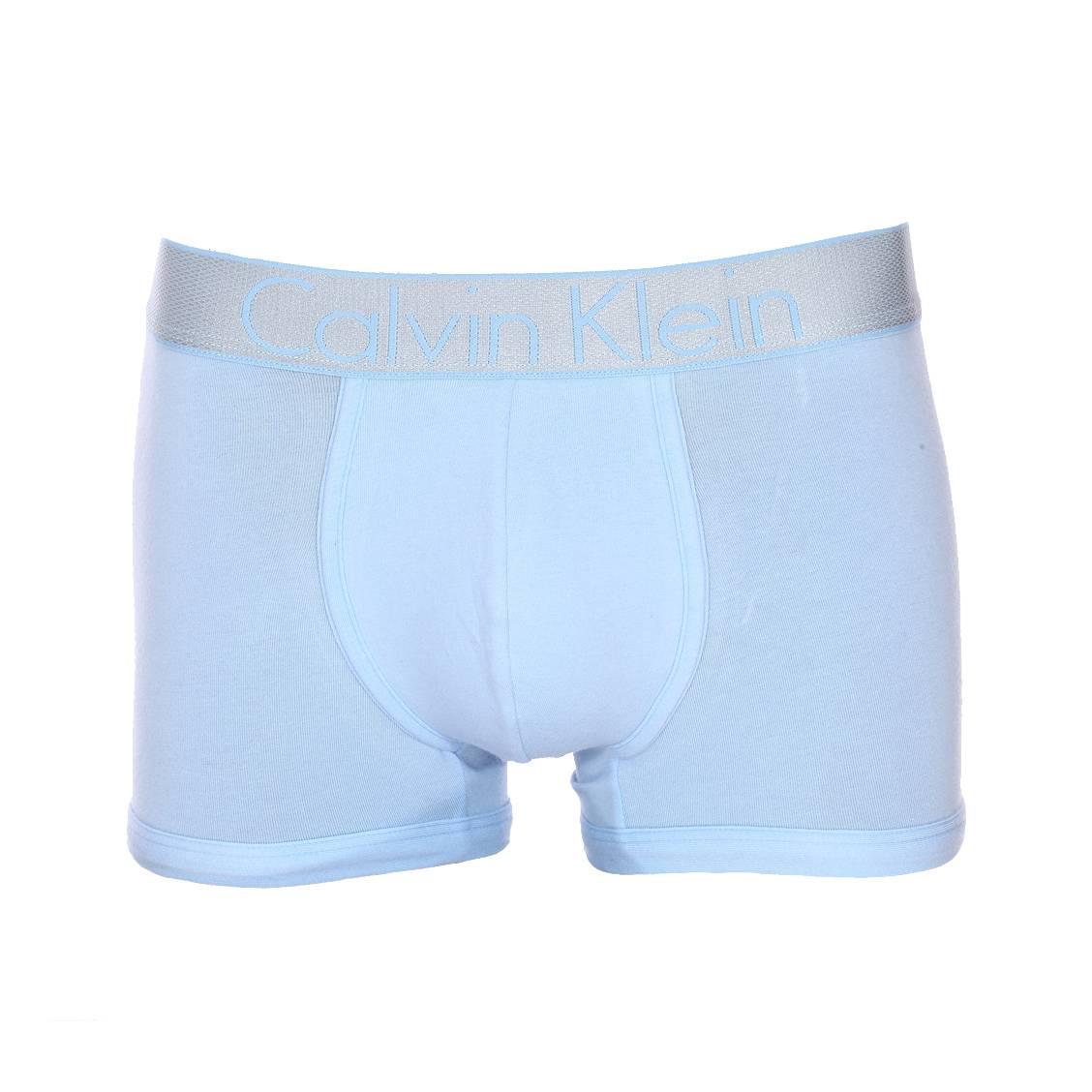 Boxer calvin klein en coton stretch bleu ciel à large ceinture