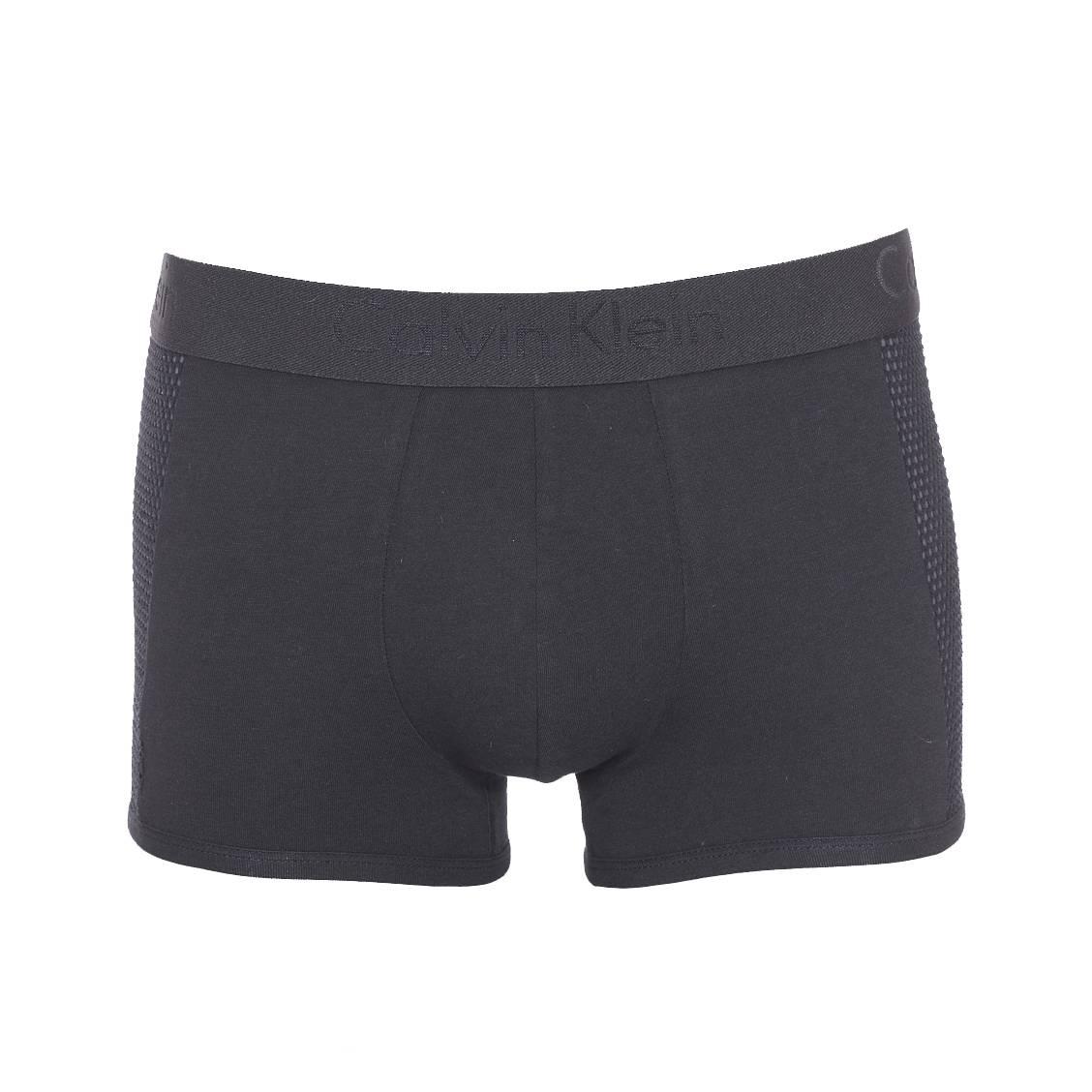 Boxer calvin klein trunk en coton stretch noir à empiècement en mesh, édition limitée