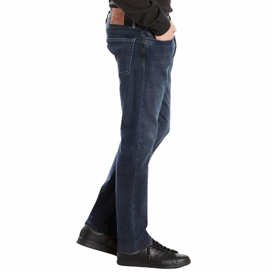 40f5b8a6afb5d ... Jeans Levi s 502 regular taper Eyser Stretch en coton stretch bleu  foncé ...