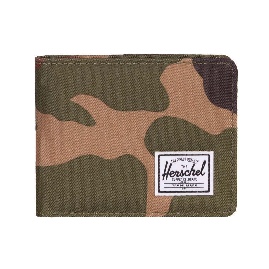 97a6045b3183 Portefeuille italien 2 volets Herschel Roy Coin à imprimé camouflage ...
