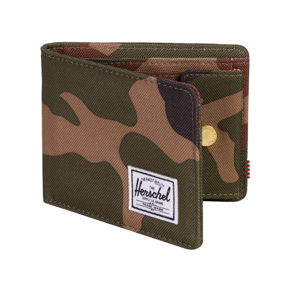06d28fdd7824 ... Portefeuille italien 2 volets Herschel Roy Coin à imprimé camouflage ...