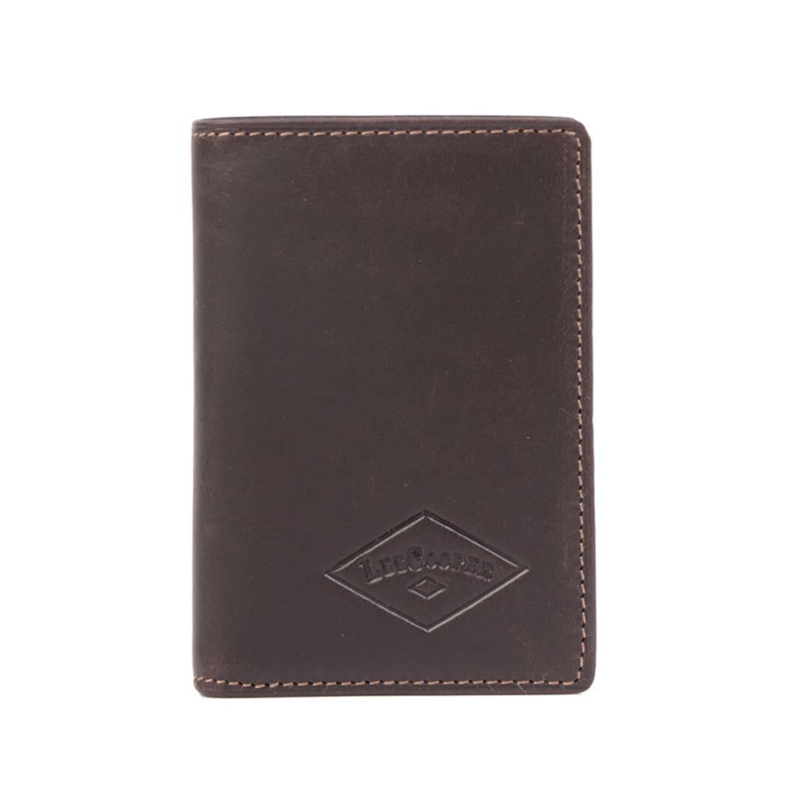 Porte-cartes LEE COOPER cuir marron xNc8G3s