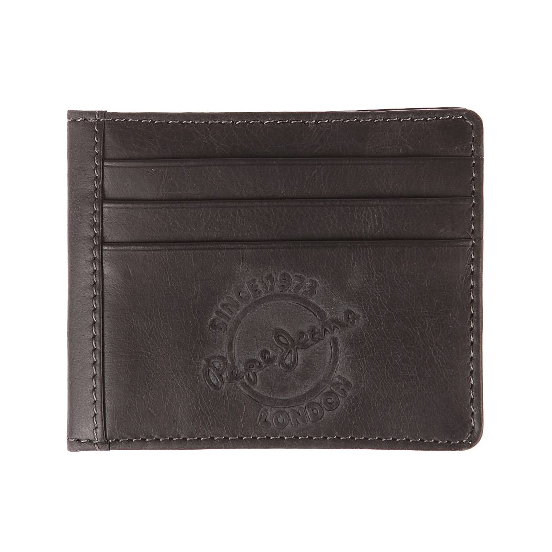 Porte-cartes italien 2 volets Pepe Jeans Accessoires en cuir noir. Porte-cartes italien 2 volets Pepe Jeans Accessoires en cuir noir