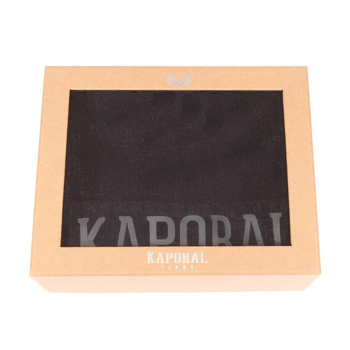 Coffret cadeaux bonnet et écharpe  back en mailles noires