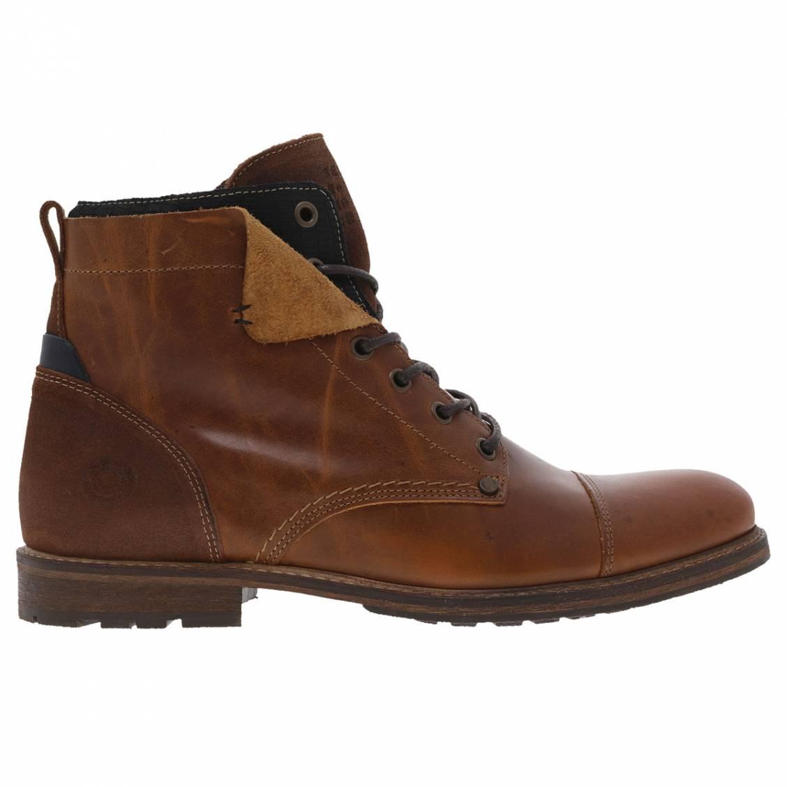 6e237ad1180 Boots hautes Bullboxer marron ...