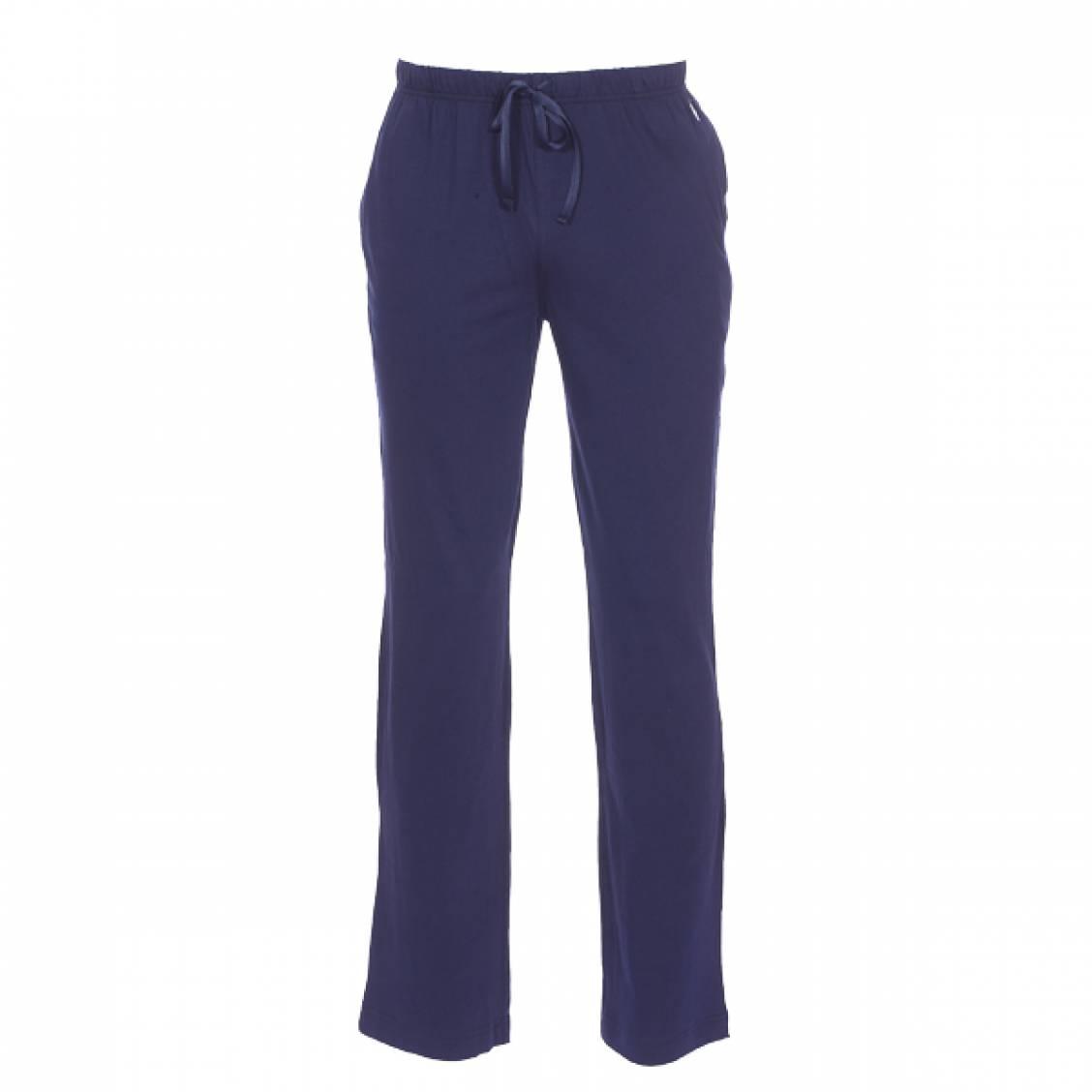Pantalon de pyjama  en jersey de coton bleu marine