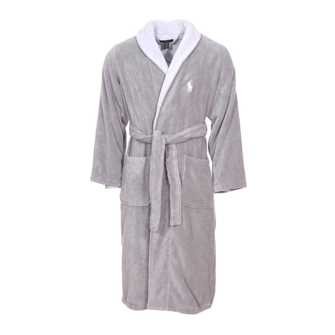 En Peignoir Hommes Des Et Bain Coton Polo Ralph Lauren Gris De BlancRue Éponge Y76gvbfmIy