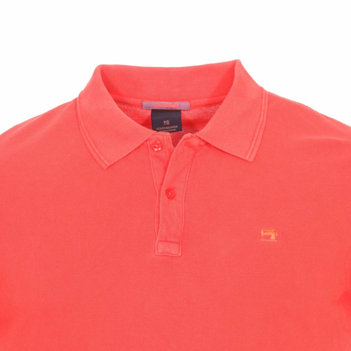 0f8fa07caae1 ... Polo Scotch   Soda Classic en coton piqué rouge ...
