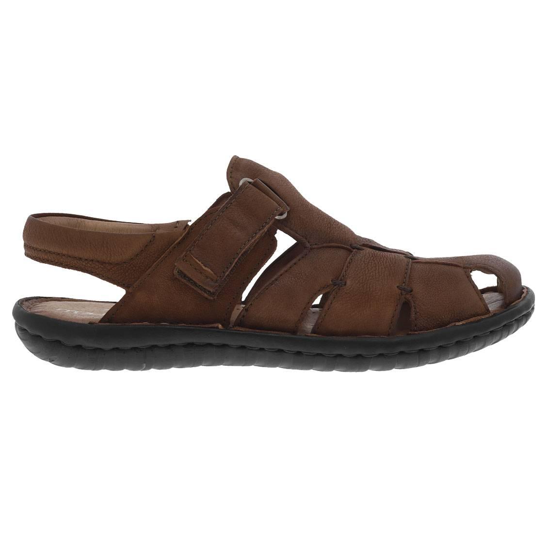 Sandales  en cuir véritable marron