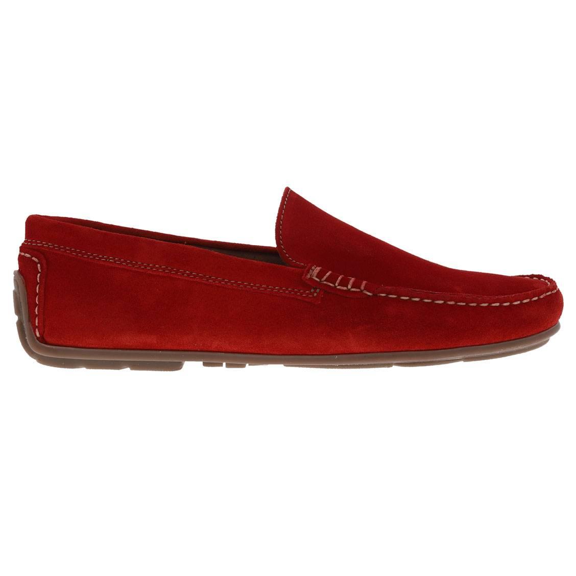 Hommes En RougeRue Croute Cuir Bateau Des Chaussures De 1F3lJcTK