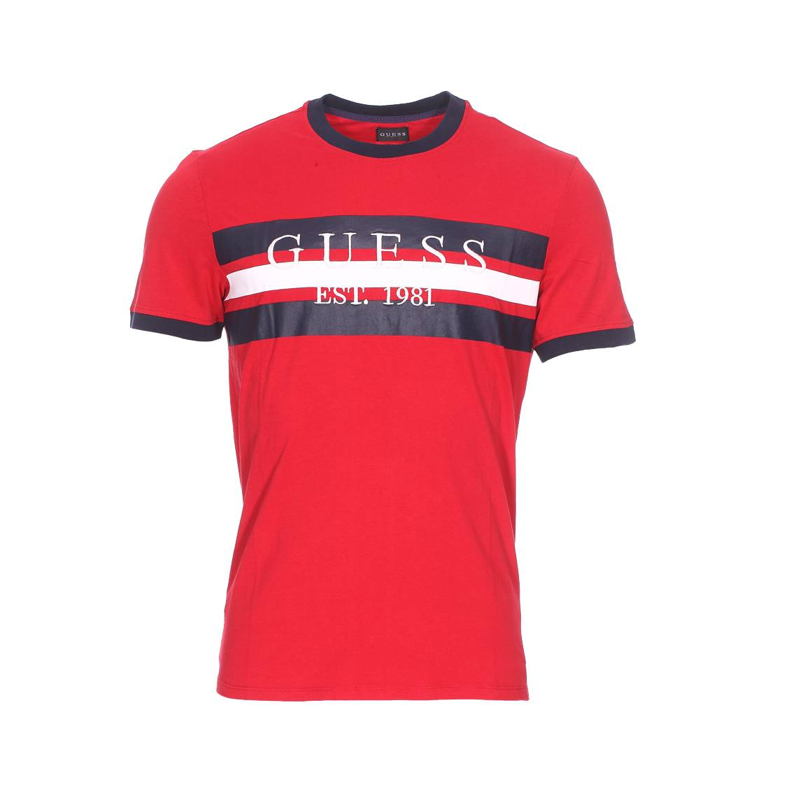 Tee-shirt col rond  garth en coton rouge