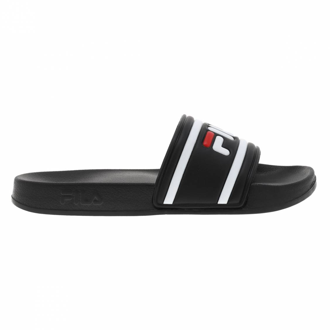 Sandales  noires à logo blanc